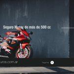 Cobertura para motos de 500 cc